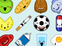 Food Icon Character Design Sprites