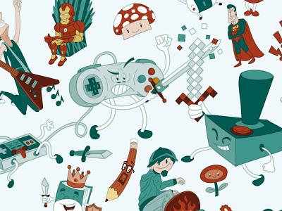 Metropoli Gijon Vector Illustration Character Design comic anime manga cartoon character vector illustration design poster gijon metropoli