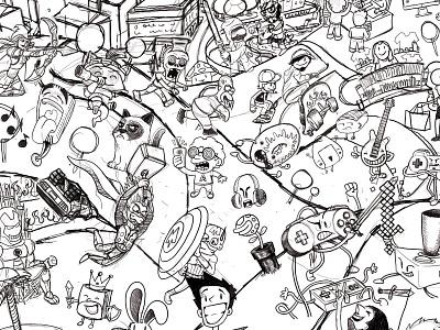Metropoli Gijon Illustration Sketch Drawing comic anime manga otaku design doodle cintiq digital characters drawing sketch illustration