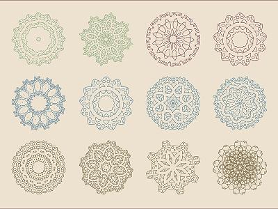 Arabic Baroque Patterns Vector set design ancient art mandala design pack set vector ornament pattern oriental baroque arabic