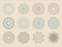Arabic Baroque Patterns Vector set design