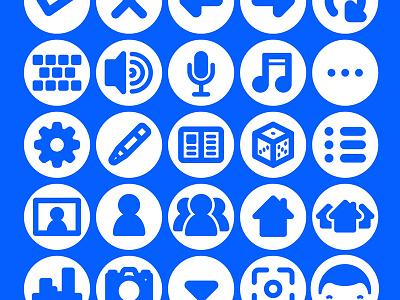 Social Media Icon Set & Web Font media social user interface design menu buttons symbols icons web font web font
