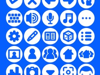 Social Media Icon Set & Web Font