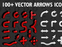 Arrow Icons Vector Set Font Preview