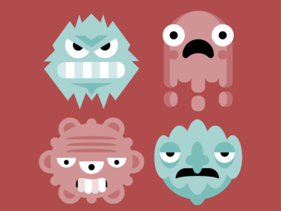 Vector Illustration for Principia Kids health virus creatures monsters flat geometric magazine principia children kids illustration vector