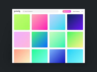 New Gradienty website gradients website