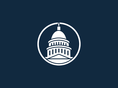 Political House Logo politics branding logo