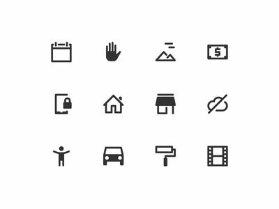 Selection of Gravity Icons [WIP] line icons icons