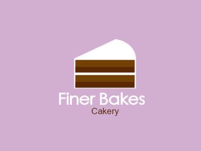 Finerbakes bakery cakery cake logo
