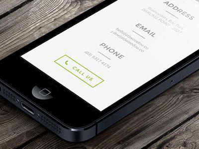 Woodou - website web design responsive web development flat icon green architecture logo identity