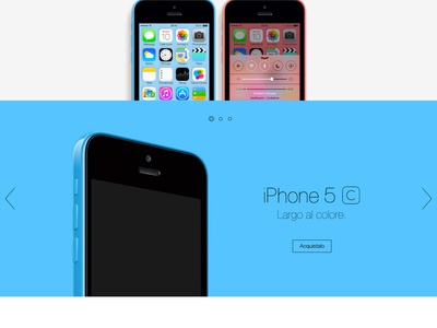 iPhone 5C - Landing page iphone redesign ui flat minimal landing page product concept school real pixels