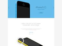 iPhone 5C - Landing page