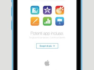 iPhone 5C - Mobile landing page  iphone redesign ui flat minimal landing page product concept real pixels responsibe web design web development
