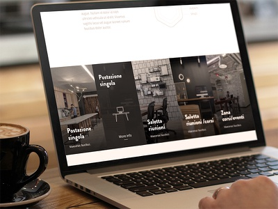 Coworking Space website web design ui ui design flat minimal coworking coworking space coworking website full width responsive