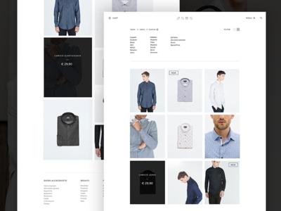 E-commerce redesign redesign views elegant minimal mock-up ui template shop e-commerce