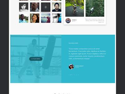Health service website interface fitness ui medical minimal clean health website
