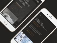 Enco - Extreme climbing centers ui minimal interface black ui design website