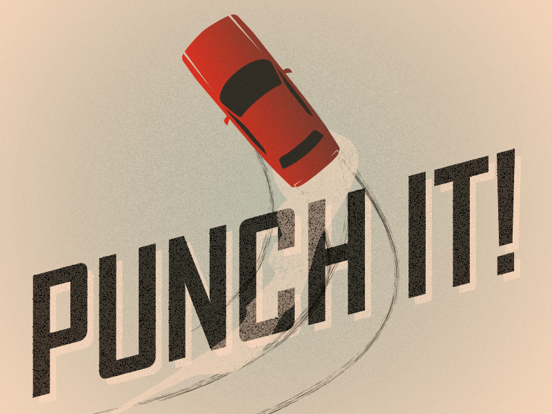 Punch It texture poster concept