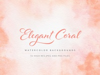 Coral Watercolor Background Textures