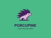 Porcupine Animal Logo Design