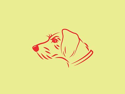 Pickles - Mascot Illustration scruffy furry illustration line drawing pup mascot mix breed mutt terrier dog