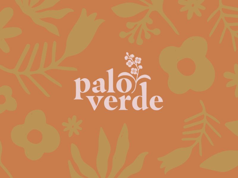 Paloverde Logo design gifts plants bloom flower orange yellow branding logo desert paloverde