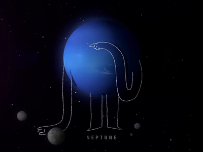 Neptune animated gif neptune space animation after effects alien design animated motion design character animation 2d illustration animation