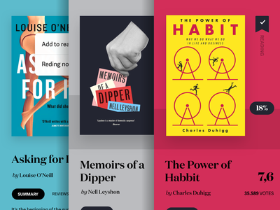 Book details — Goodreads typography domaine display colours ui ux books goodreads