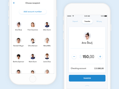 Mobile banking - New Payment fintech mbanking cards ios ui ux chase concept banking mobile