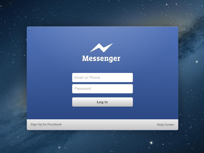 Facebook Messenger | Concept facebook messenger ios clean form ui ux social login signup concept