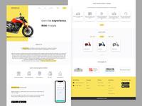 WheelStreet - Bike Rental Website website design branding ux ui
