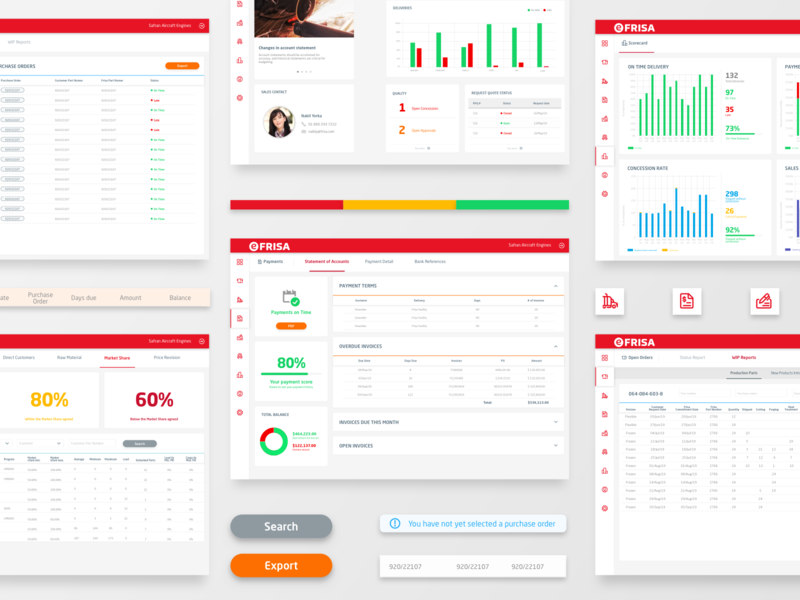 efrisa - Web App interface color palette icons app web design web app design ui  ux dashboad chart