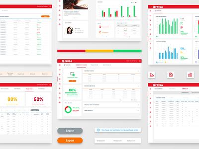 efrisa - Web App interface color palette icons app web design web app design ui  ux dashboad chart