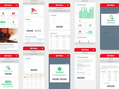 efrisa - Web App - Mobile concept mobile app mobile webdesign icons dashboad interface web design ux ui app