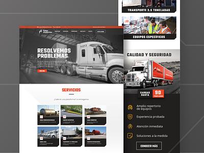 Fletes Modernos Homepage icon branding web design website ux uxui ui landingpage interface homepage geometry design color palette brand asset