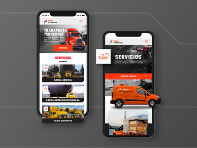 Fletes Modernos Mobile UI app typography interface design landingpage asset icon brand logistic homepage ux uiux ui mobile ui mobile website web