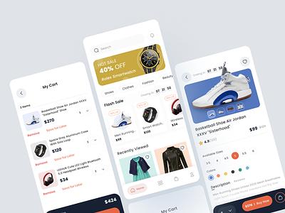 E-commerce Mobile App mobile app uxui ui design shopping app shopify ecommerce app online shopping online shop ecommerce