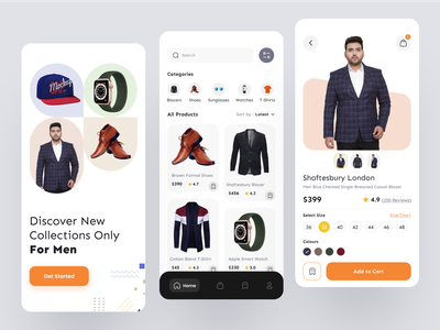 Fashion e-commerce - Mobile App online shopping app mobile ui fashion mobile app ux ui design fashion clean design mobile app eccomerce fashion app fashion app e-commerce shop e-commerce