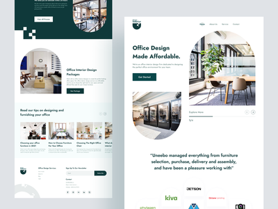 Interior Landing Page trending design userinterface design e-commerce ecommerce interior architecture agency landing page cleandesign interiordesign clean ui minimal design web design interior landing page interior design