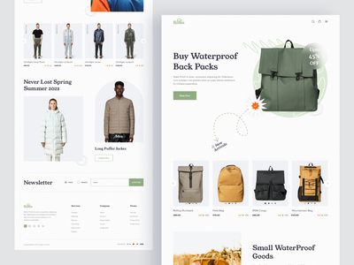 E commerce Landing Page ui e-commerce product page design clean ui one page design website fashion landing page backpack online shop fashion store clean design landing page ui e-commerce website website design