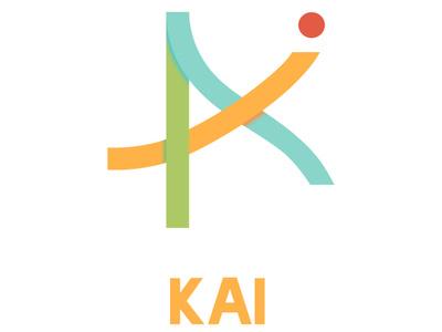 Kai logo/type lockup graphic design art illustrator identity brand mobile ios clean type minimal flat ux app typography ui vector branding illustration design logo