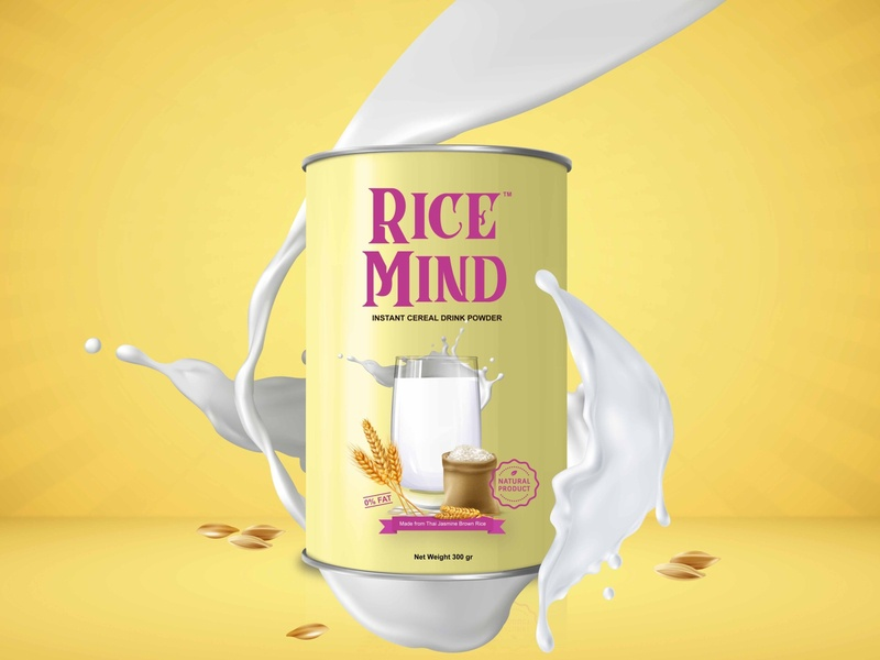 Rebranding Rice Mind Design Packaging packagingdesign packaging branding gradient color vector design