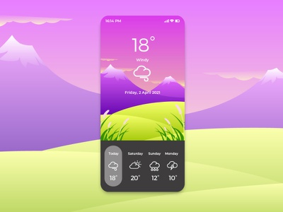 Windy Weather App minimal icon ui illustration vector artwork gradient color flat vector design