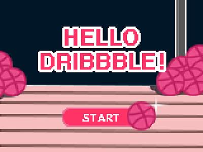 Hello Dribbble! Debut Shot design video game pixelart pixel-art pixel art nintendo 8-bit art 8-bit debut debutshot debut shot hello dribbble hellodribbble
