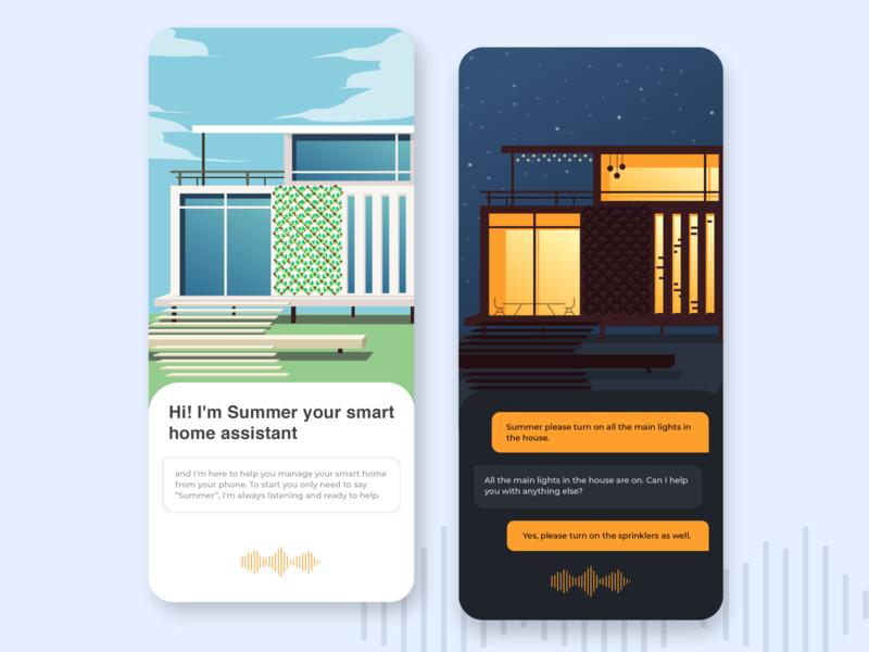 Smart Home Assistant design vector ui illustration