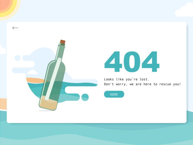404 Error - Lost at the sea