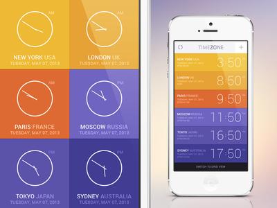 TimeZone App Concept