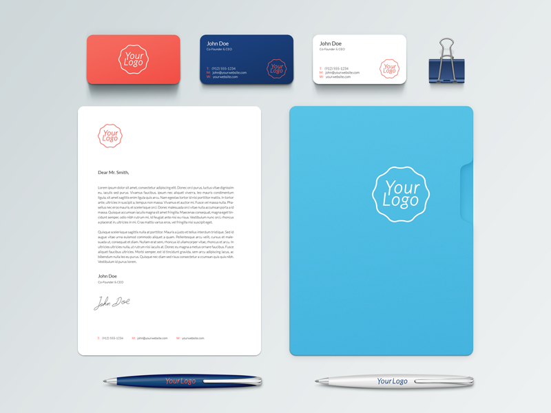 Branding Mock-Up Free PSD branding identity free psd mock-up stationery business card mockup