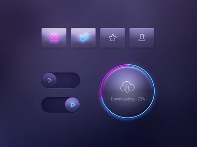 Neon UI Elements