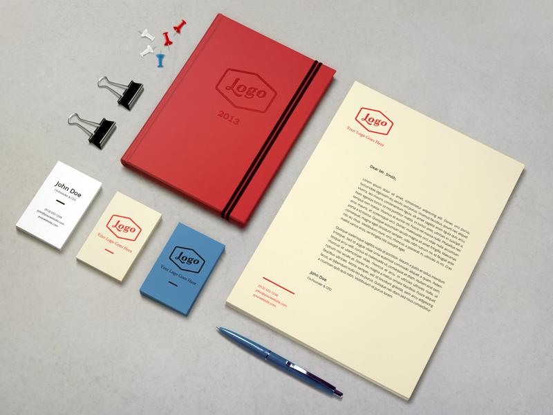 Identity / Branding Mock-Up branding identity free psd mock-up stationery mock up download freebie